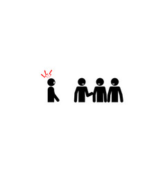 Social phobia fear icon on white background can vector
