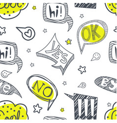 speech bubbles seamless pattern with different vector image