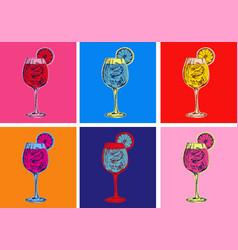 Spritz hand drawn summer cocktail drink vector