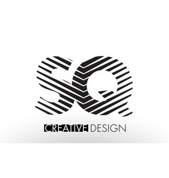 sq s q lines letter design with creative elegant vector image