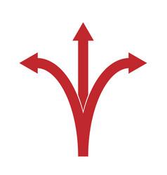 Three arrows pointing vector
