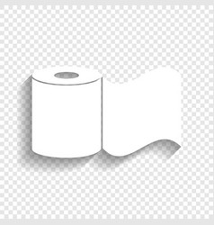 Toilet paper sign white icon with soft vector