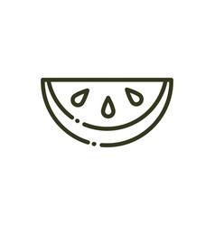 tropical watermelon fruit fresh nature line design vector image