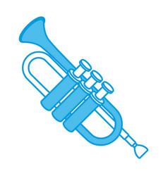 trumpet music instrument vector image