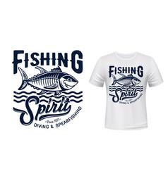 tuna fish mascot t-shirt print mockup vector image