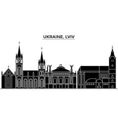 ukraine lviv architecture city skyline vector image