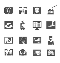 Ultrasound And X-ray Icons vector