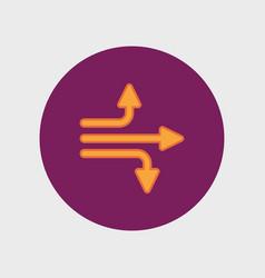 universal arrow icon vector image