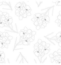 Vanda miss joaquim orchid flower outline on white vector