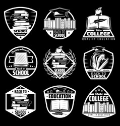 vintage back to school labels set vector image