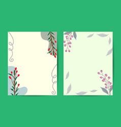 vintage delicate greeting invitation card vector image