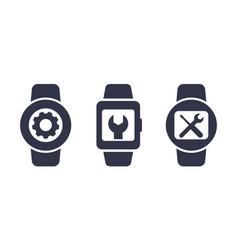 Watch repair icons vector