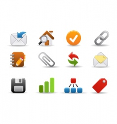 web icons smooth series vector image