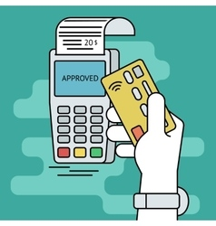 Wireless mobile payment by credit card vector