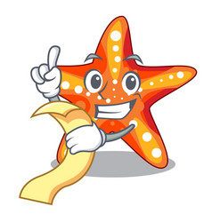 With menu starfish isolated with in the cartoons vector