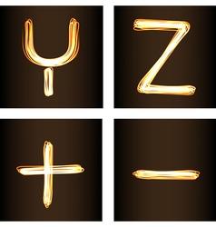 Y Z vector image