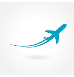 airplane flight tickets air fly travel takeoff vector image vector image