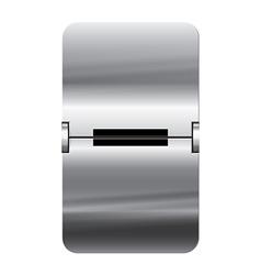 Alphabet silver flipboard letters minus vector image vector image