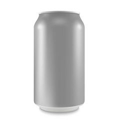 aluminum can of the empty layout for your design vector image vector image