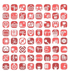 big color travel icons vector image