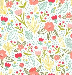 Fun floral repeat pattern vector