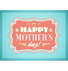 Happy Mothers day Typography letters font type vector image