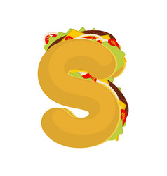 letter s tacos mexican fast food font taco vector image vector image