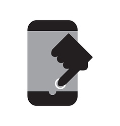 Touch smart phone vector image vector image