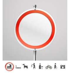 Blank round urban sign vector image vector image