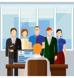 Curriculum Vitae Recruitment Candidate Job vector image vector image