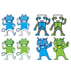 Cute modern tech mascot character vector image vector image