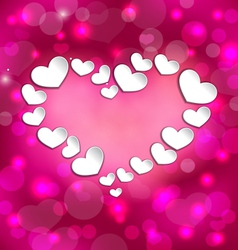 Lighten background with hearts for Valentine Day vector image