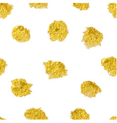 seamless pattern with polka dots gold gold dots vector image