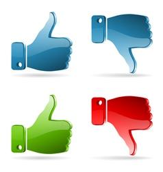 Set Social Media Sticker vector image