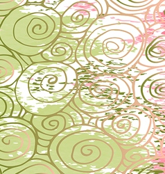 Waves hand-drawn pattern abstract background curl vector