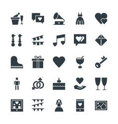 Wedding cool icons 2 vector