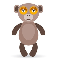 Cartoon of a monkey on a white background vector image