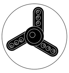 hand spinner with white balls vector image