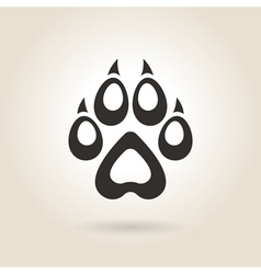 Icon Dog Trail vector image vector image