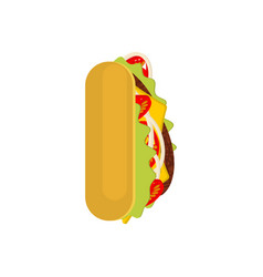 letter i tacos mexican fast food font taco vector image vector image