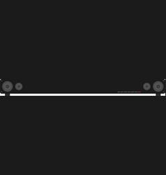 Surround Sound - Sound Bar vector image