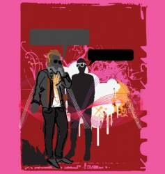 urban dude on cellphone vector image vector image