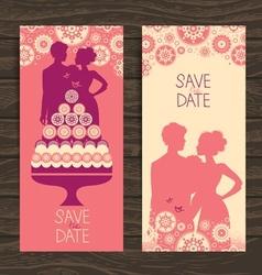 Wedding invitation card vector image vector image