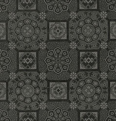 32 Abstract floral mosaic tile vintage ornament vector image