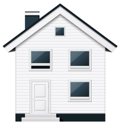 Boarded two-storeyed suburban townhouse vector image