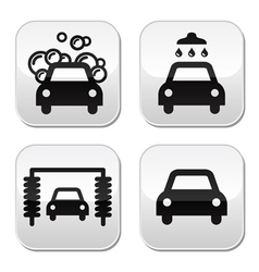 Car wash buttons set - vector image vector image