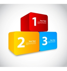 Colorful numbered cubes vector image vector image
