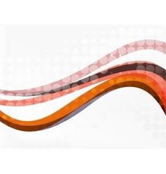 dotted curve waves vector image vector image