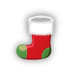 Empty christmas stocking isolated on white vector