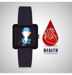 Health care design technology icon isolated vector image vector image
